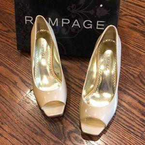 Rampage camal patent dress pumps
